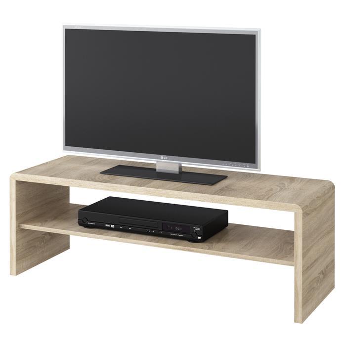 Table basse / Meuble TV NOELLE, en mélaminé décor chêne sonoma