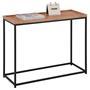 Table console ICONIC, cadre en métal laqué noir et plateau en MDF décor chêne sauvage