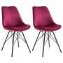 Lot de 2 chaises EVEREST, en velours rouge