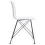 Lot de 4 chaises GLORIA, en plastique blanc