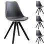 Lot de 4 chaises scandinaves RETO, en synthétique gris