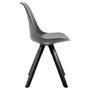 Lot de 4 chaises scandinaves RETO, en synthétique gris