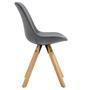 Lot de 4 chaises scandinaves ROSITA, en tissu gris foncé