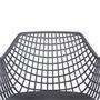 Lot de 4 chaises LUCIA, en plastique gris foncé