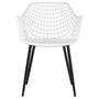 Lot de 4 chaises LUCIA, en plastique blanc