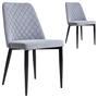 Lot de 2 chaises ZAMORA, en tissu gris