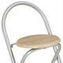 Ensemble table haute de bar et 2 chaises STYLE, décor chêne sonoma