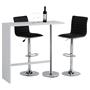 Table haute de bar RICARDO, blanc mat
