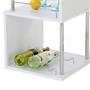 Table haute de bar VIGANDO, blanc mat