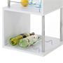 Table haute de bar VIGANDO, blanc mat