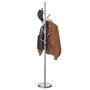 Porte-manteaux ZENO, en métal laqué gris