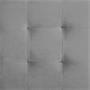 Tabouret pouf cubique BAZAR, en velours gris