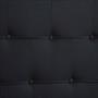 Lit simple NIZZA, 90 x 190 cm, capitonné avec sommier, revêtement en tissu noir