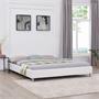 Lit futon double NIZZA, 180 x 200 cm, avec sommier, revêtement synthétique, blanc