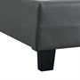 Lit simple REVE, 90 x 190 cm, capitonné avec sommier, revêtement synthétique gris