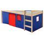 Rideaux MAX pour lit superposé ou surélevé, bleu/rouge
