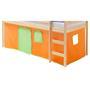 Rideaux MAX pour lit superposé ou surélevé, vert/orange