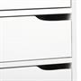 Bureau en pin massif HUGO, lasuré blanc