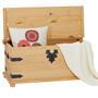 Coffre de rangement en pin TEQUILA style mexicain, finition teintée/cirée