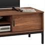 Meuble TV SELMA, 2 portes coulissantes, teinté brun foncé