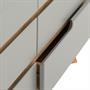 Commode TIBOR, 6 tiroirs, lasuré gris