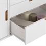Buffet TIVOLI, 3 tiroirs et 2 portes, lasuré blanc