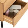 Meuble TV TIBOR, 4 tiroirs et 2 niches, finition bois teinté
