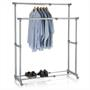 Portant à vêtements CASA, en métal chromé et gris