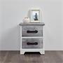 Table de chevet SALERNO, 2 tiroirs, gris blanc