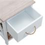 Table de chevet PERUGIA, 1 tiroir et 1 panier, blanc
