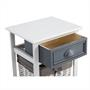 Table de chevet FLORENZ, 1 tiroir et 1 panier, blanc