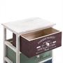 Commode COLORIS, 4 tiroirs colorés, blanc
