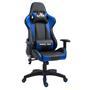 Chaise de bureau GAMING, revêtement synthétique noir et bleu