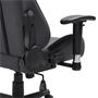 Chaise de bureau gaming SWIFT, revêtement en tissu gris et noir