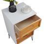 Table de chevet ESTORIL, 3 tiroirs, blanc