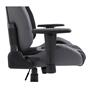 Chaise de bureau gaming TEAM, revêtement bi-matière noir et gris