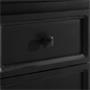 Table de chevet ELEGANTE au style baroque, 2 tiroirs, noir
