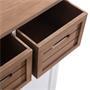 Buffet CORNELIA, 2 caisses de rangement et 2 portes, blanc et brun