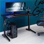 Bureau gamer COMPETITION avec éclairage LED bleu, en métal noir