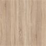Table basse / Meuble TV NOELLE, en mélaminé décor chêne sonoma et blanc mat