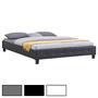 Lit double futon GOMERA, 160 x 200 cm, avec sommier, revêtement synthétique