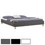 Lit double futon NIZZA, 180 x 200 cm, avec sommier, revêtement synthétique